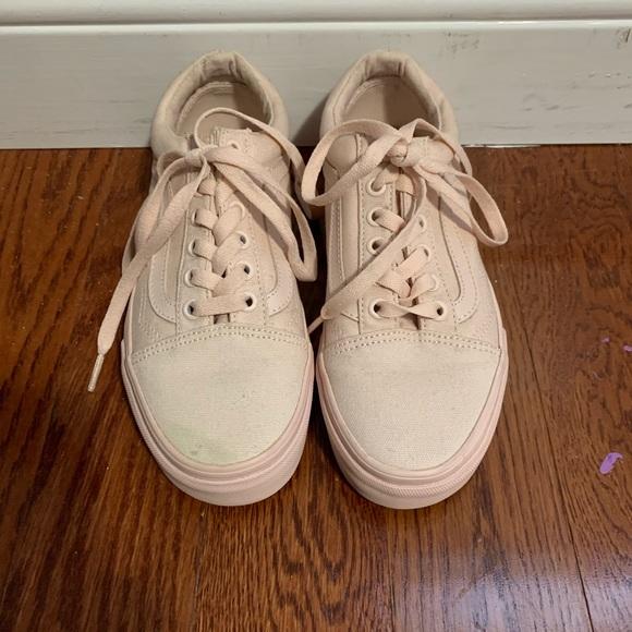 Vans light pink lace up shoes
